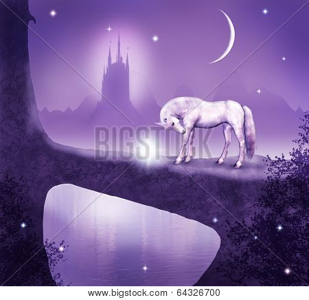 white horse and the bridge