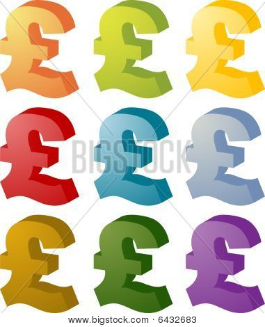 Pound Currency Icon Set