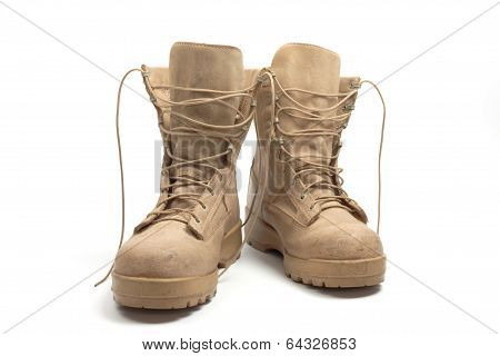 Desert Combat Boots, Isolated