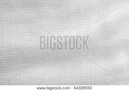 Gauze Texture Of White Color