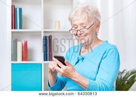 Texting Senior