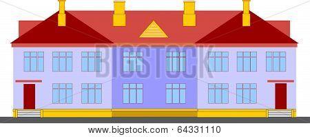 Economical duplex house.