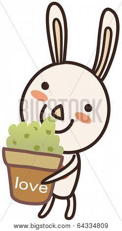 Vector illustration of a funny rabbit