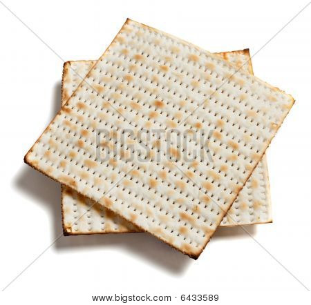 Matza Bread On White