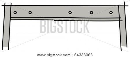 Vector illustration of a hurdle