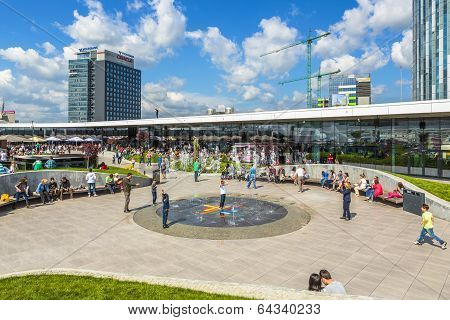 Crowded Shopping Center, Bucharest, Romania