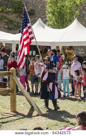 Medieval Usa Flag
