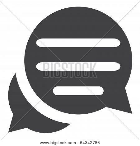 stock illustration - chat icon