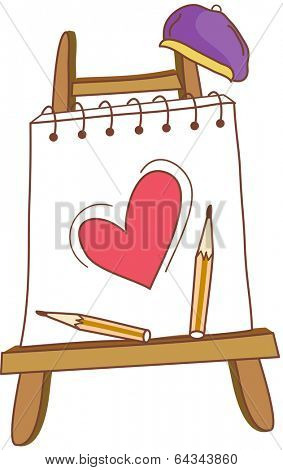 Vector illustration of an easel