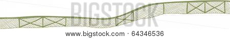 Vector illustration of a barbed-wire fence