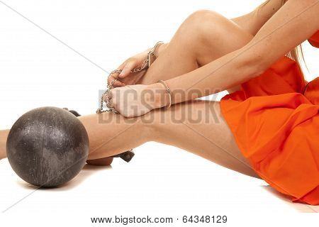 Prisoner Ball On Ankle Legs Handcuffs