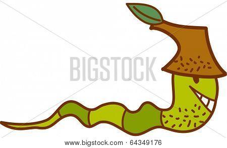 Vector illustration of an earthworm