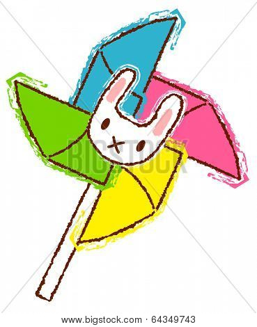 Vector illustration of a pinwheel