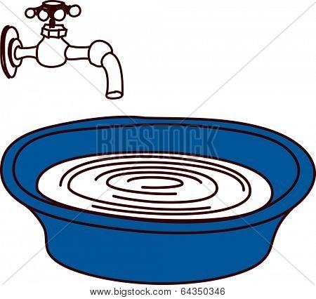 Vector illustration of a spigot