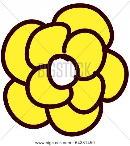 Vector illustration of a flower