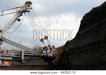 Brown Coal Huge Excavator Machine