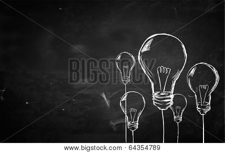 Sketch Many Bulbs background