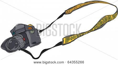 Vector illustration of a digital camera
