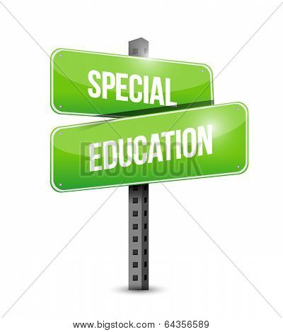 Special Education Sign Post Illustration Design