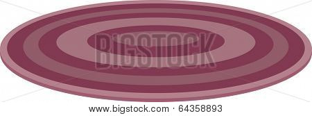 Vector illustration of round rug
