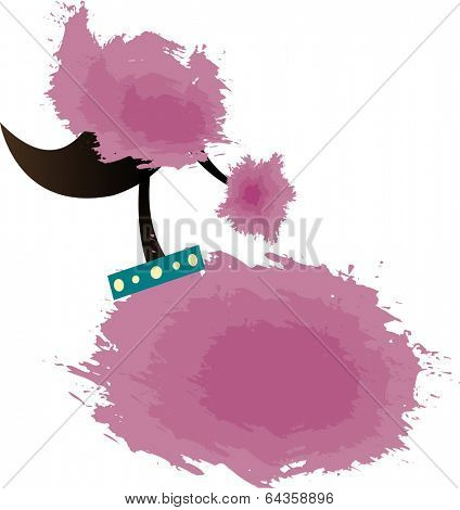 Vector illustration of pink corsage.
