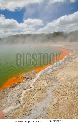 Amazing colours of the Champagne Pool