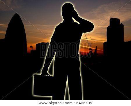 Businessman City Silhouette