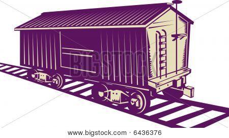 Vagão de carga de um trem de carga