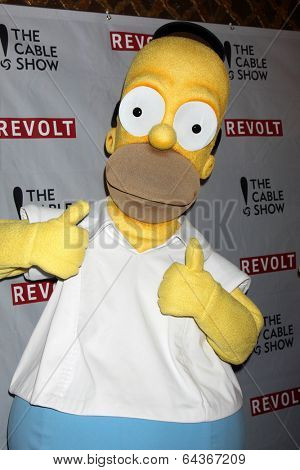 LOS ANGELES - APR 30:  Homer Simpson at the NCTA's Chairman's Gala Celebration of Cable with REVOLT at The Belasco Theater on April 30, 2014 in Los Angeles, CA