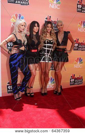 LOS ANGELES - MAY 1:  Lauren Bennett, Natasha Slayton, Emmalyn Estrada, Paula Van Oppen at the 1st iHeartRadio Music Awards at Shrine Auditorium on May 1, 2014 in Los Angeles, CA