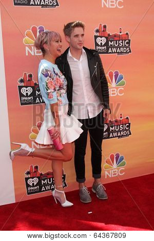 LOS ANGELES - MAY 1:  Chelsea Kane, Brian Logan Dales at the 1st iHeartRadio Music Awards at Shrine Auditorium on May 1, 2014 in Los Angeles, CA