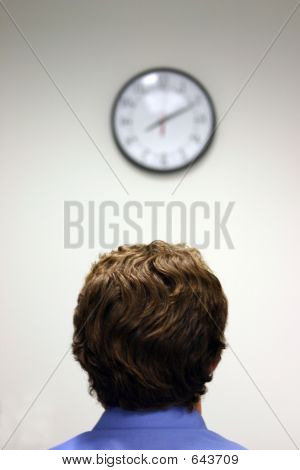 Businessman And Clock