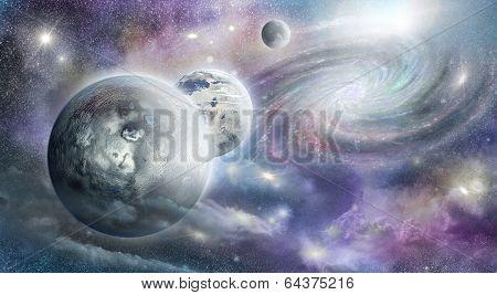 Planets Galaxy And Nebula