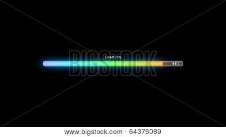 Loading Color Gradient Blue Dark Background