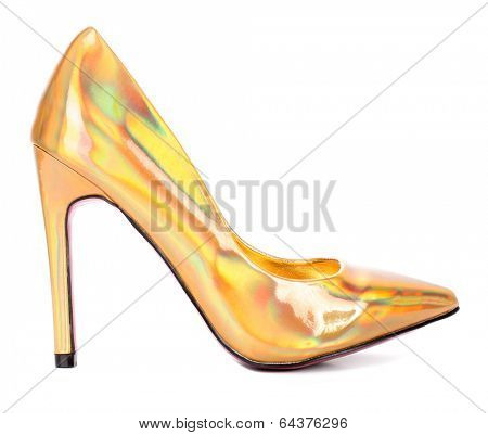 Rainbow colorful high heel pump shoe
