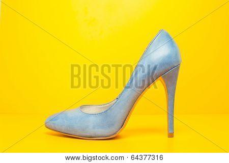 Blue High Heels Shoes