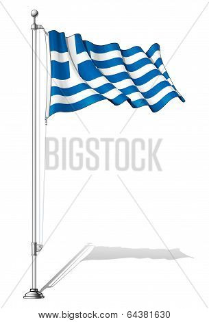 Flag Pole Greece.
