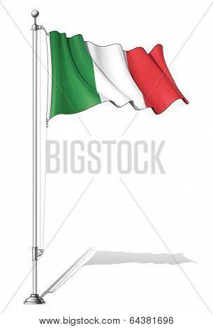Flag Pole Italy