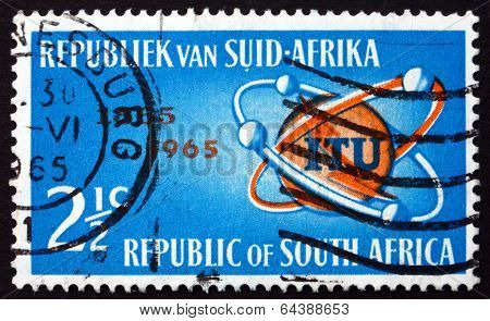 Postage Stamp South Africa 1965 Itu Emblem