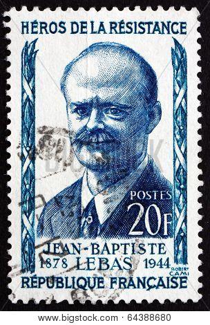 Postage Stamp France 1957 Jean-baptiste Lebas, Politician
