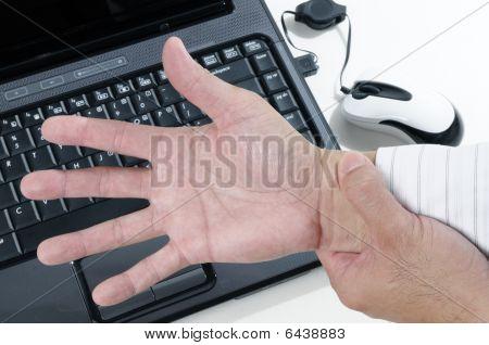schmerzhafte Handgelenk