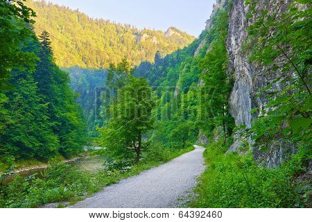 Trekking Trail In The Dunajec River Gorge.