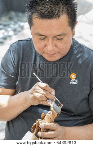 Traditional Hopi Kachina Doll Artist at Work