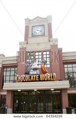 Entrance to Hershey Chocolate World