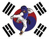foto of taekwondo  - create cartoon taekwondo martial art - JPG