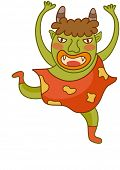 image of hobgoblin  - Vector illustration of a funny monster - JPG