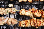 picture of brazier  - healthy shish kebab  - JPG
