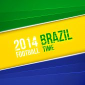 image of color geometric shape  - Abstract geometric background using Brazil flag colors - JPG