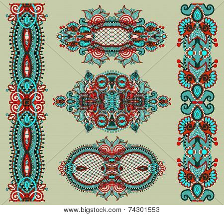 ornamental floral adornment, vector illustration