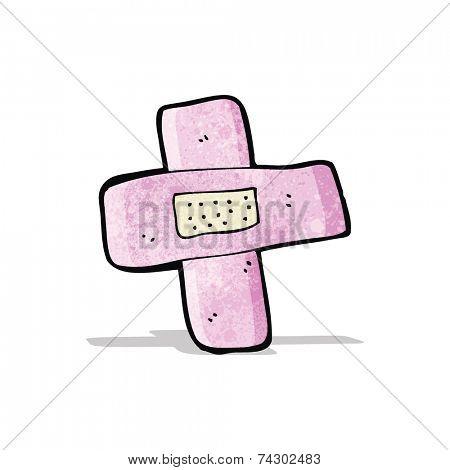 pink sticking plaster cartoon